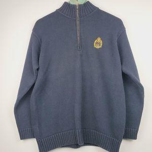 Lauren Ralph Lauren Logo Quarter Zip Sweater Sz S